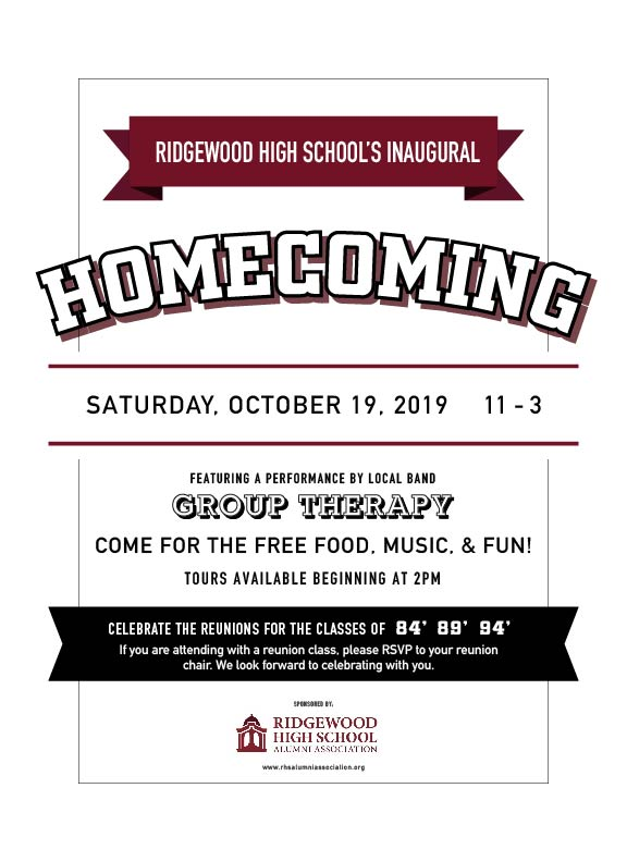 RIDGEWOOD HIGH SCHOOL'S INAUGURAL HOMECOMING